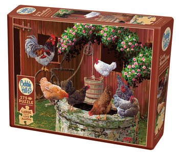 Cobble Hill Puzzle 275pc The Chickens are Well