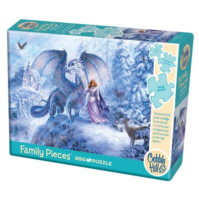 Cobble Hill Puzzles Cobble Hill Family Puzzle 350pc Ice Dragon