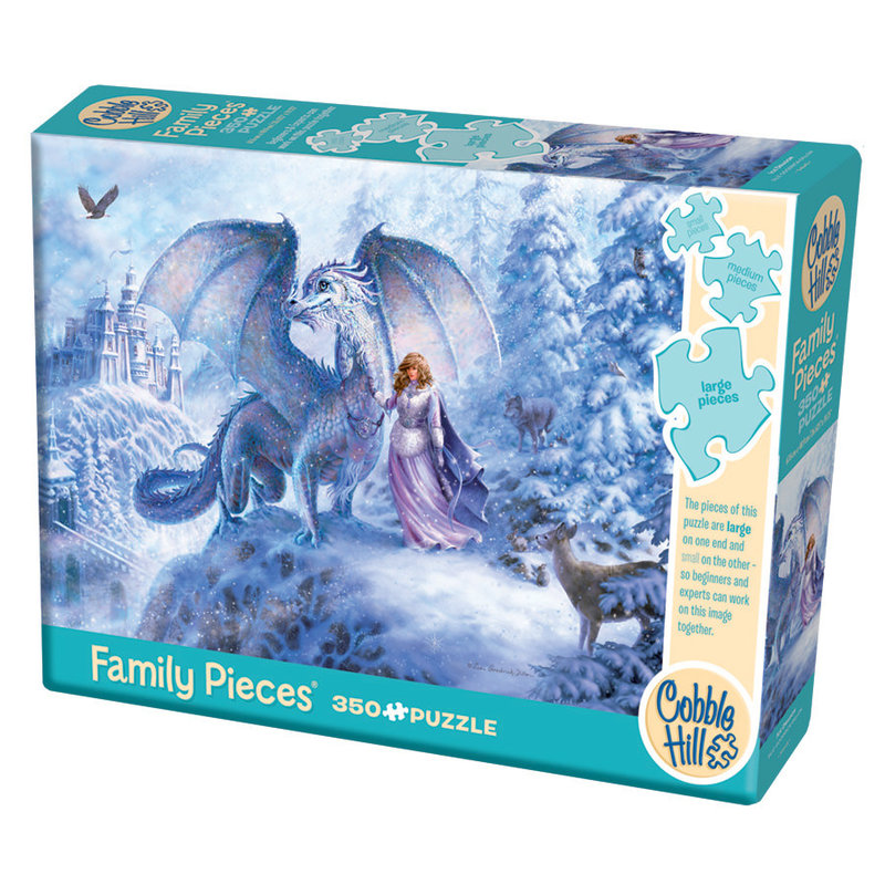 Cobble Hill Puzzles Cobble Hill Family Puzzle 350pc Ice Dragon