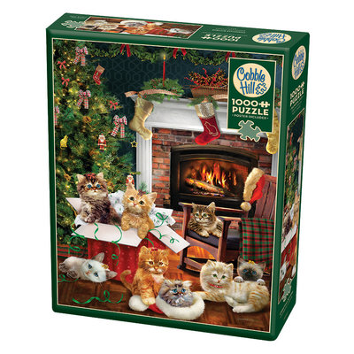 Cobble Hill Puzzles Cobble Hill Puzzle 1000pc Christmas Kittens