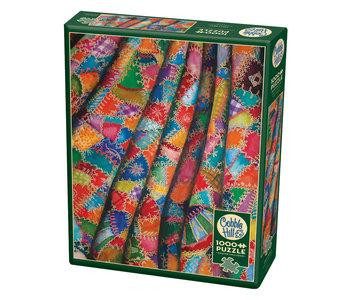 Cobble Hill Puzzle 1000pc Crazy Quilt