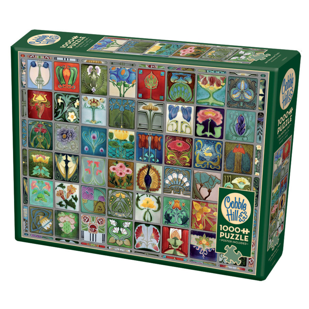 Cobble Hill Puzzles Cobble Hill Puzzle 1000pc Art Nouveau Tiles