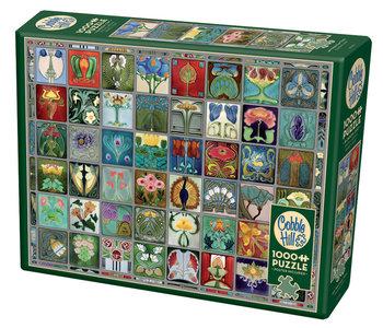 Cobble Hill Puzzle 1000pc Art Nouveau Tiles