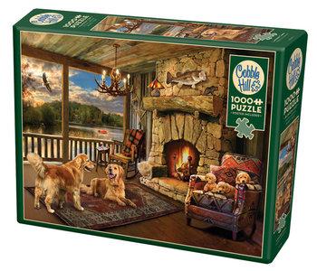 Cobble Hill Puzzle 1000pc Lakeside Cabin