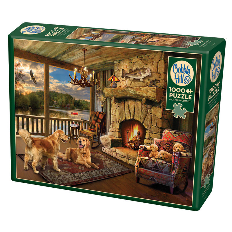 Cobble Hill Puzzles Cobble Hill Puzzle 1000pc Lakeside Cabin