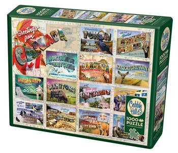 Cobble Hill Puzzle 1000pc Greeting From Canada