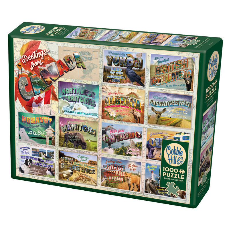 Cobble Hill Puzzles Cobble Hill Puzzle 1000pc Greeting From Canada