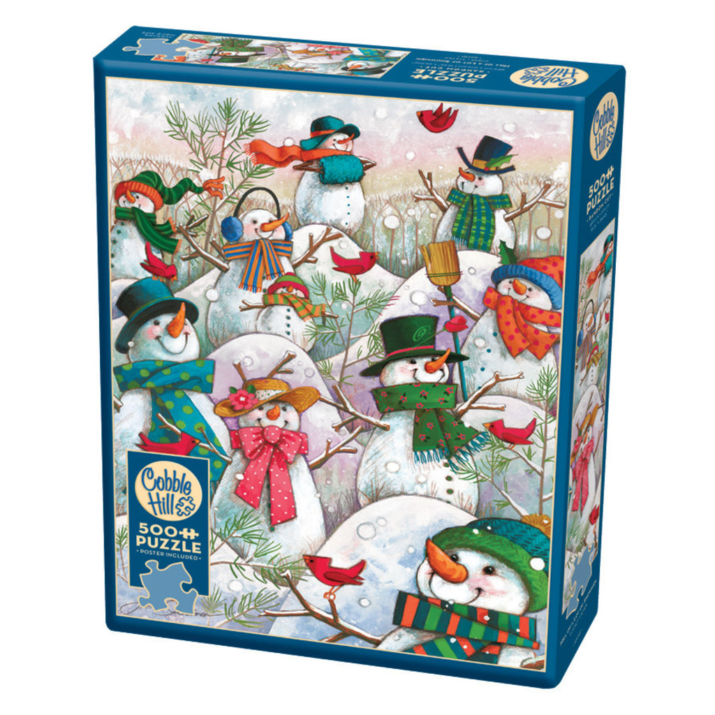 Cobble Hill Puzzles Cobble Hill Puzzle 500pc Hill of a lot of Snowmen
