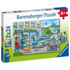 Ravensburger Ravensburger Puzzle 2x24pc Police at Work!