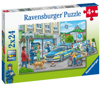 Ravensburger Puzzle 2x24pc Police at Work!