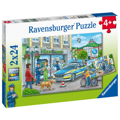 Ravensburger Ravensburger Puzzle 2x24pc Police at Work!