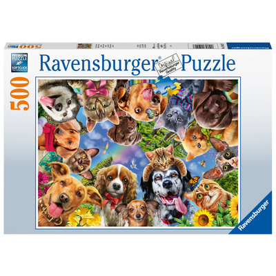 Ravensburger Ravensburger Puzzle 500pc Animal Selfie