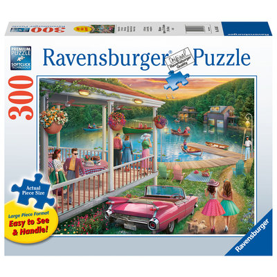 Ravensburger Ravensburger Puzzle 300pc Large Format Summer at the Lake