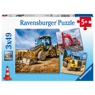 Ravensburger Ravensburger Puzzle 3x49pc Digger At Work