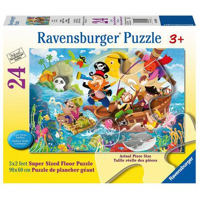 Ravensburger Ravensburger Floor Puzzle 24pc Land Ahoy!