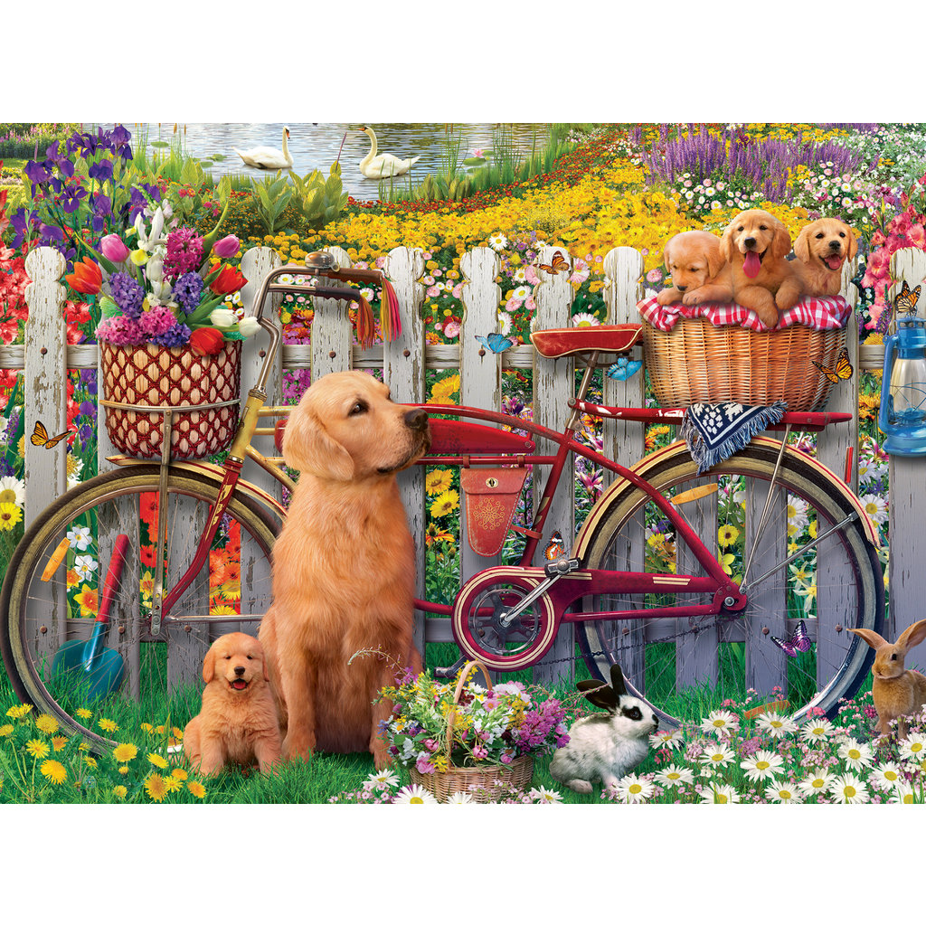 Ravensburger Ravensburger Puzzle 500pc Cute Dogs in the Garden