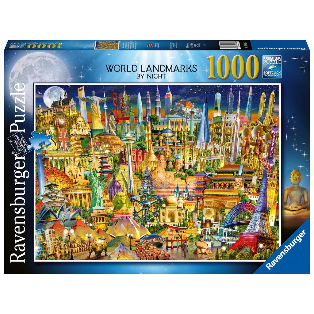 Ravensburger Ravensburger Puzzle 1000pc World Landmarks by Night