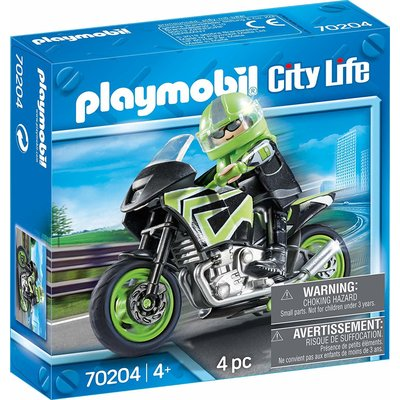 Playmobil Playmobil City Action Motorcycle with Rider