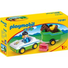 Playmobil Playmobil 123 Car with Horse Trailer
