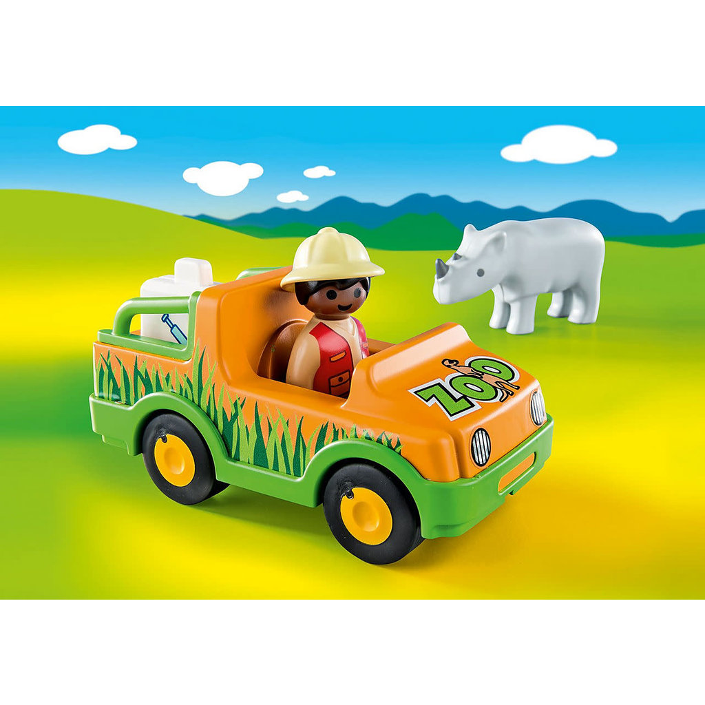 Playmobil Playmobil 123 Zoo Vehicle with Rhinoceros