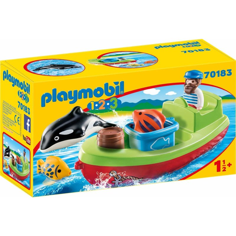 Playmobil Playmobil 123 Fisherman with Boat