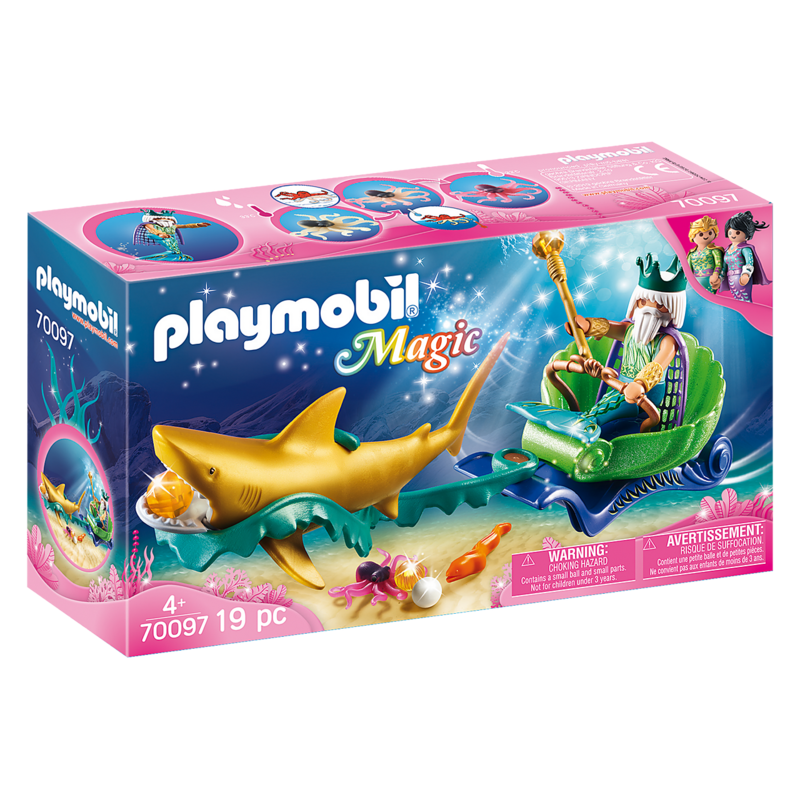 Playmobil Playmobil Magical Mermaid King of the Sea with Shark Carriage