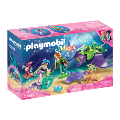 Playmobil Playmobil Magical Mermaid Pearl Collectors with Manta Ray