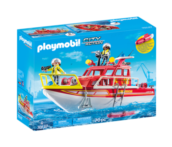 Playmobil Fire Rescue Boat with Motor