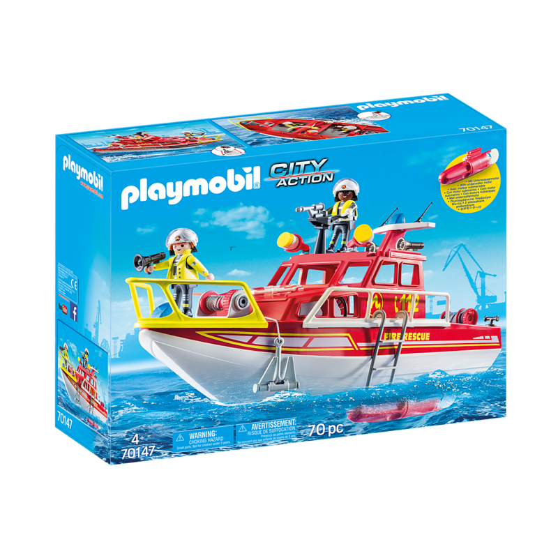Playmobil Playmobil Fire Rescue Boat with Motor