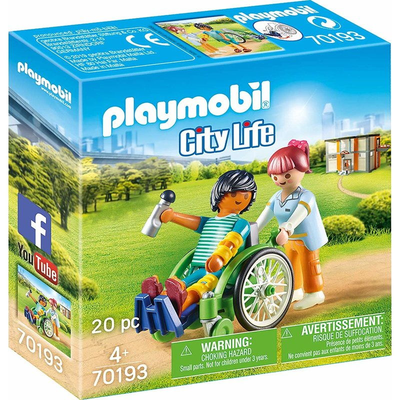 Playmobil Playmobil Hospital Patient in Wheelchair