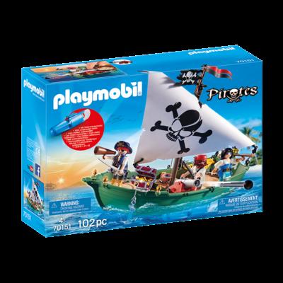 Playmobil Playmobil Pirate Ship with Underwater Motor