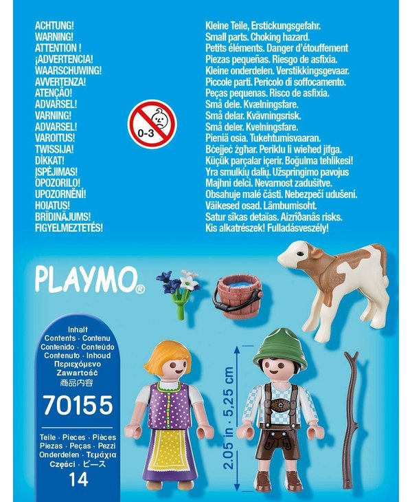 Playmobil Special Children with Calf