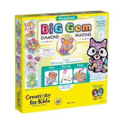 Creativity for Kids Creativity for Kids Big Gem Diamond Painting Woodland