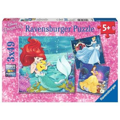 Ravensburger Ravensburger Puzzle 3x49pc Disney Princesses