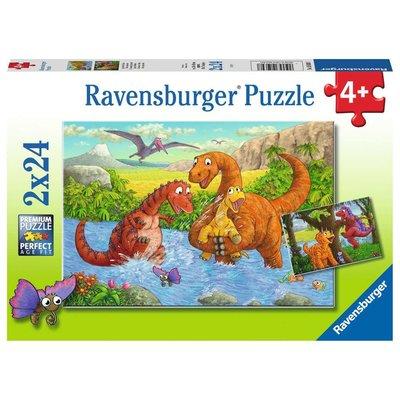 Ravensburger Ravensburger Puzzle 2x24pc Dinosaurs at Play