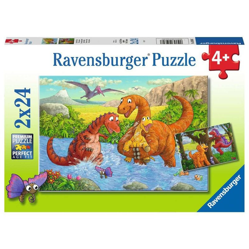 Ravensburger Ravensburger Puzzle 2x24pc Dinosaurs at Play