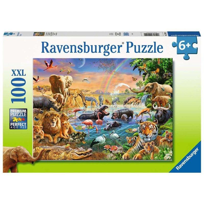 Ravensburger Ravensburger Puzzle 100pc Savannah Jungle Waterhole
