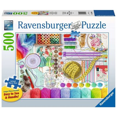Ravensburger Ravensburger Puzzle 500pc Large Format Needlework Station