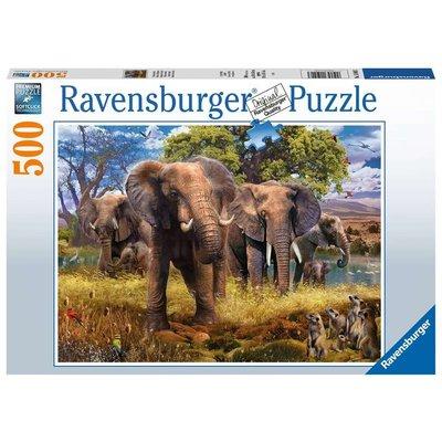Ravensburger Ravensburger Puzzle 500pc Elephants