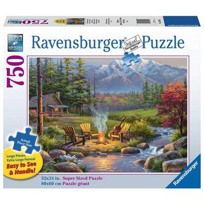Ravensburger Ravensburger Puzzle 750pc Large Format Riverside Livingroom