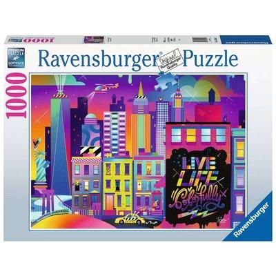 Ravensburger Ravensburger Puzzle 1000pc Live Life Colorfully NYC