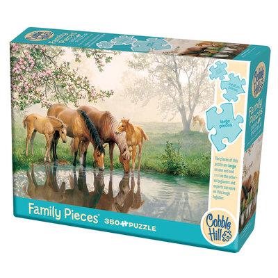Cobble Hill Puzzles Cobble Hill Family Puzzle 350pc Horse Family