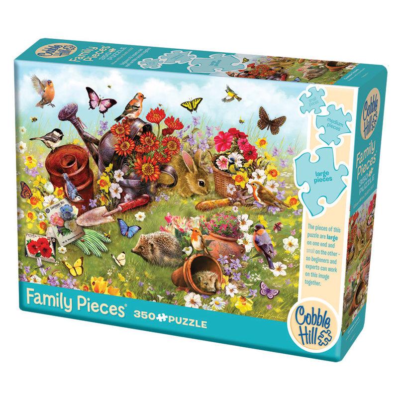Cobble Hill Puzzles Cobble Hill Family Puzzle 350pc Garden Scene