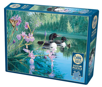 Cobble Hill Puzzle 500pc Iris Cove Loons