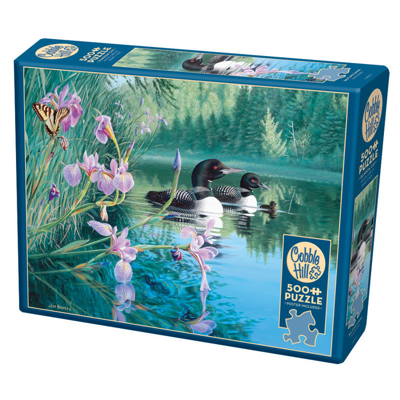 Cobble Hill Puzzles Cobble Hill Puzzle 500pc Iris Cove Loons
