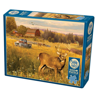 Cobble Hill Puzzles Cobble Hill Puzzle 500pc Deer Field