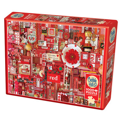 Cobble Hill Puzzle 1000pc Red