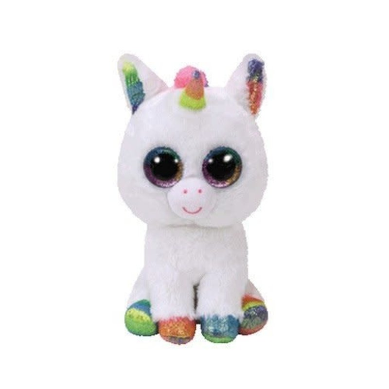 Ty Ty Beanie Boo Regular Pixy White Unicorn