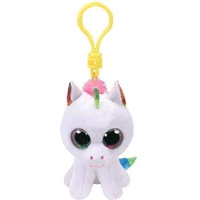 Ty Ty Beanie Boo Clip Pixy Unicorn White