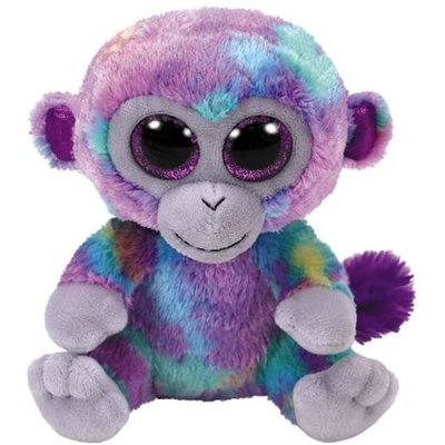 Ty Ty Beanie Boo Medium Zuri Monkey Colourful